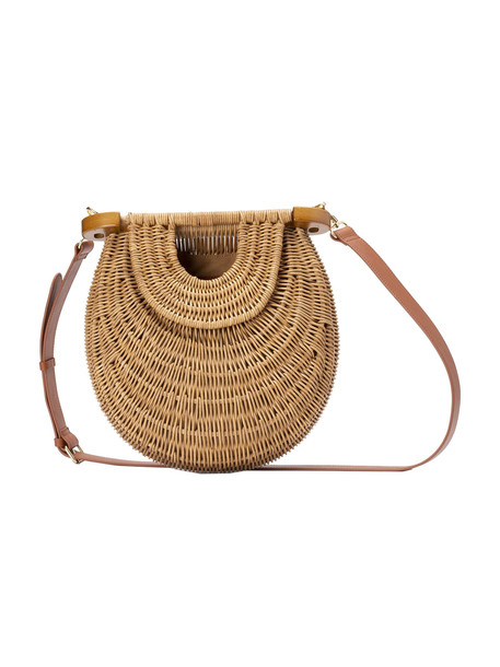 Staud Woven Tote in brown