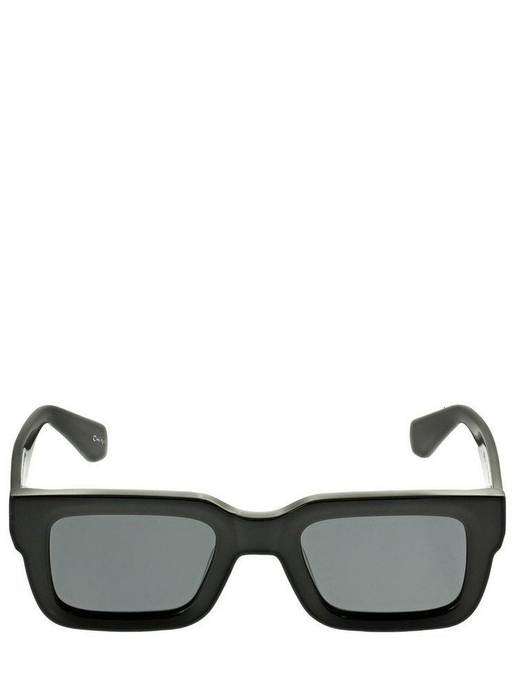 CHIMI 05 Squared Acetate Sunglasses in black