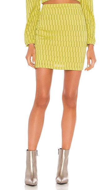 KENDALL + KYLIE KENDALL + KYLIE Mini Skirt in Green
