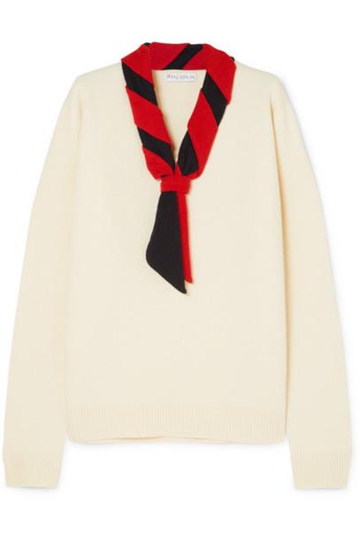 JW Anderson - Tie-neck Merino Wool Sweater - Ivory