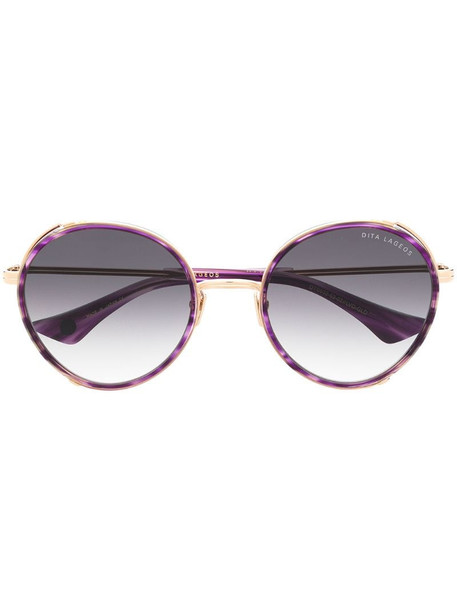 Dita Eyewear Lageos round-frame sunglasses in gold