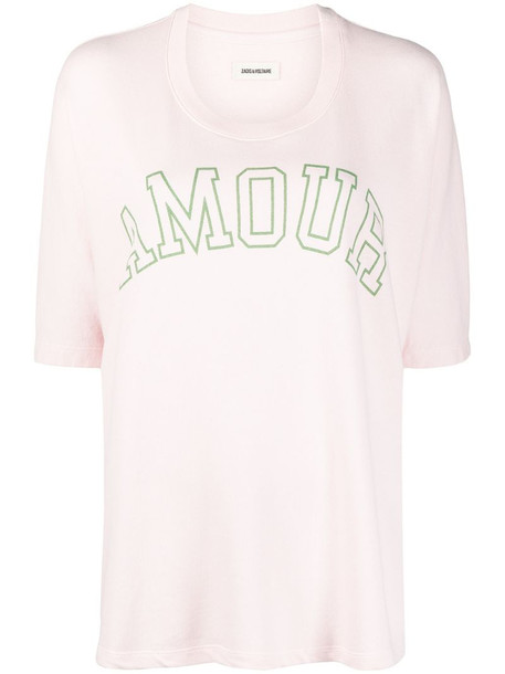 Zadig&Voltaire Portland Amour T-shirt in pink
