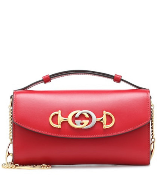 Gucci Zumi leather shoulder bag in red