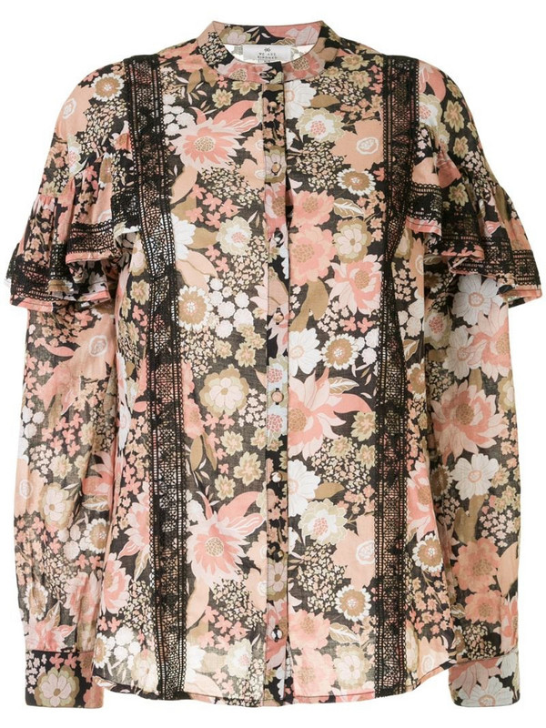 We Are Kindred Jessa filled-sleeve blouse in pink