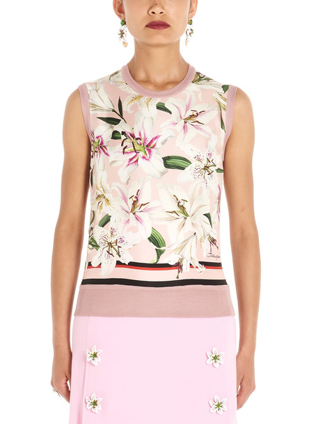 Dolce & Gabbana gigli Vest in pink