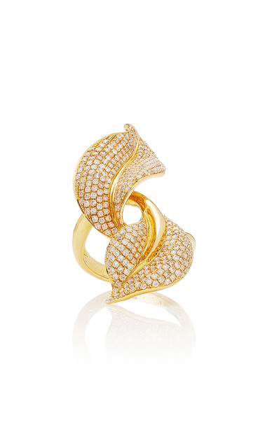 ESSERE Spring 18K Yellow-Gold and White Diamond Ring