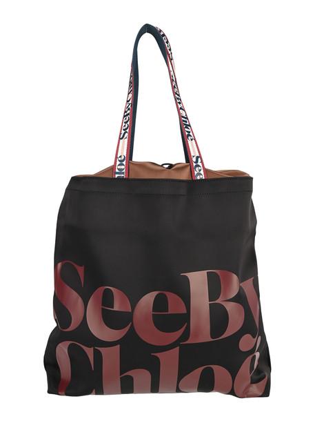 See by Chloé See By Chloe Logo Print Large Tote Bag