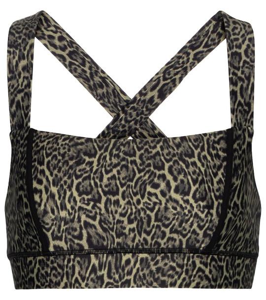 The Upside Maria leopard-print sports bra in brown