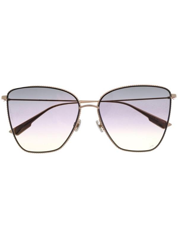 Dior Eyewear Society1 butterlfy-frame sunglasses in gold