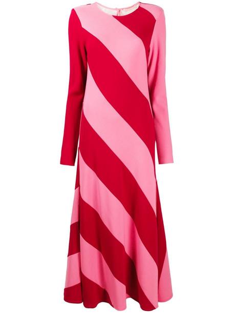Maggie Marilyn two-tone stripe-print maxi dress in pink