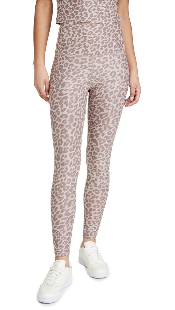Beyond Yoga Spacedye Printed Caught In The Midi Leggings in brown / leopard