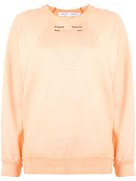 Proenza Schouler White Label crew neck sweatshirt in pink