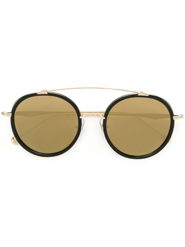 Matsuda round mirrored sunglasses in black
