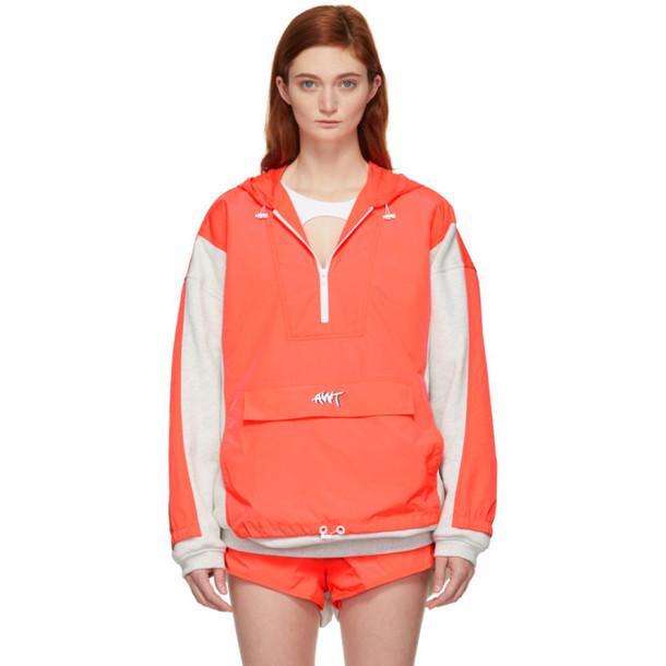 alexanderwang.t Grey & Orange Nylon Oversized Washed Jacket
