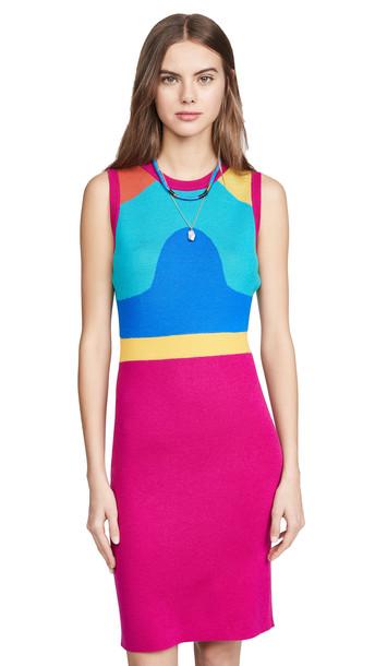 Victor Glemaud Jacquard Sleeveless Dress in multi