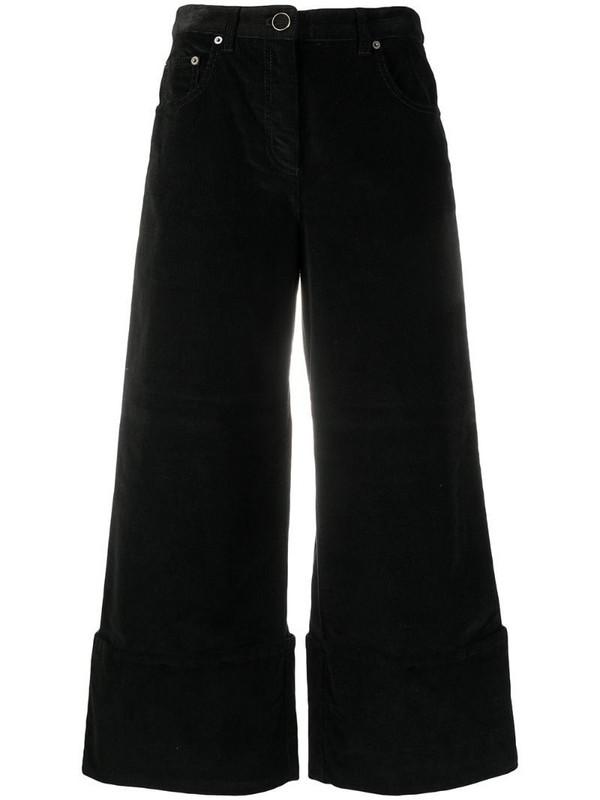 Vivetta corduroy cropped trousers in black