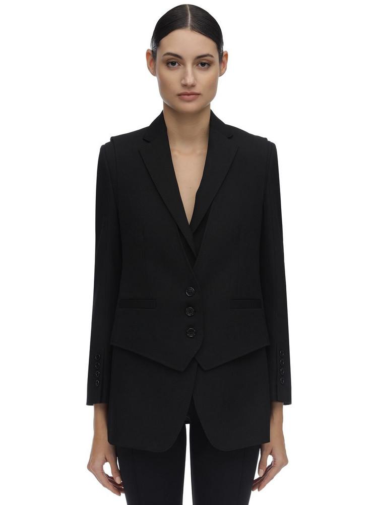 BURBERRY Wool Tuxedo Blazer in black