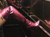 shoes,thigh high boots,burgundy,patent shoes,leather,boots,red,burgundy shoes,red red wine,love,women