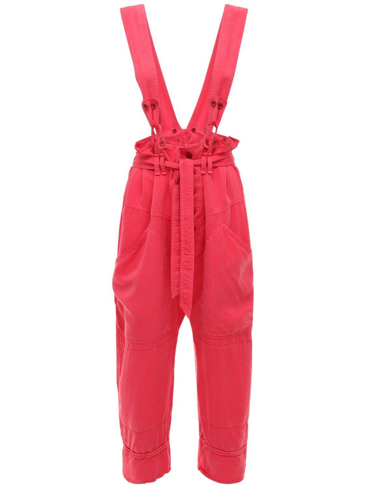 ISABEL MARANT Fineba Tencel Light Pants W/straps in fuchsia