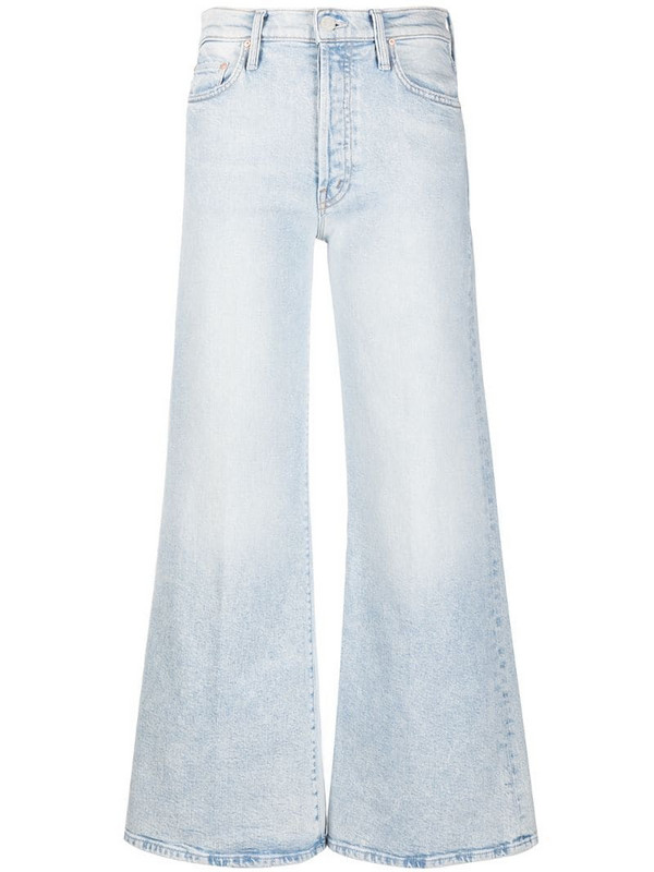 MOTHER The Tomcat Roller wide-leg jeans in blue
