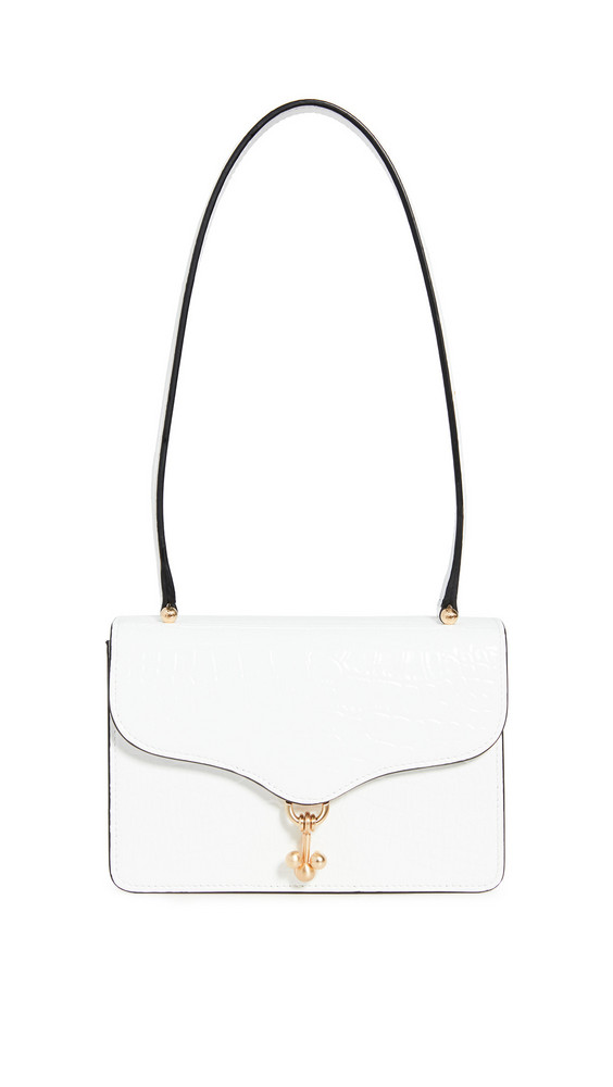 Edie Parker Ball Buster Bag in white