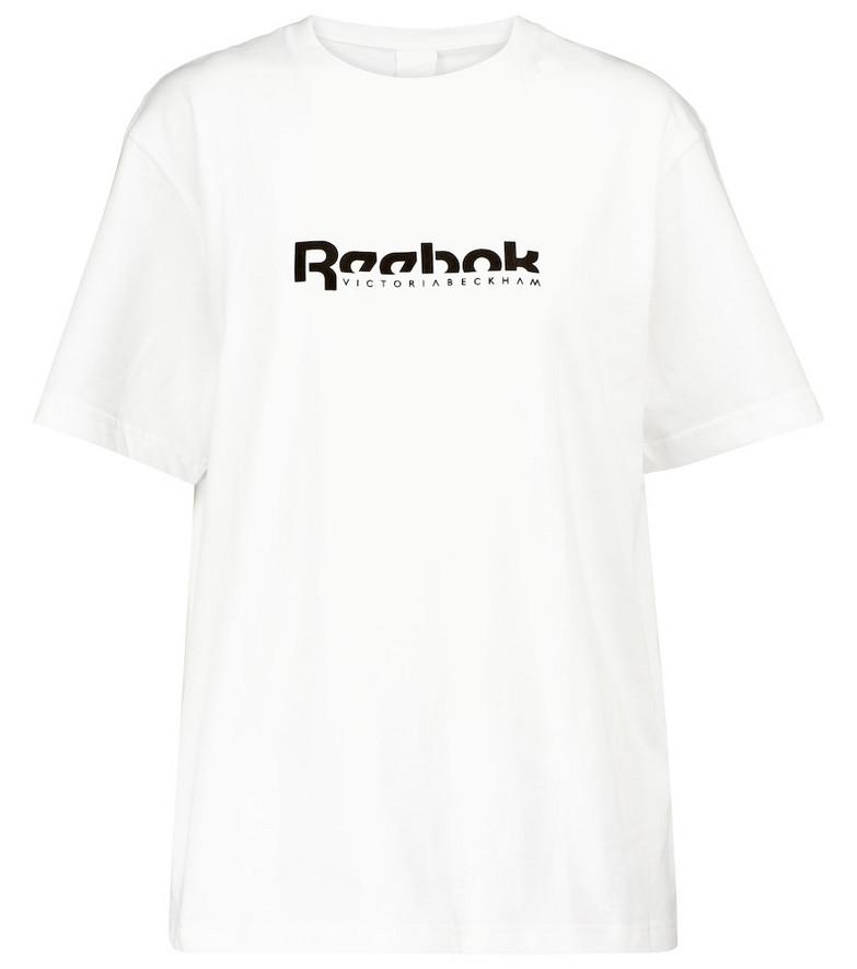 Reebok x Victoria Beckham Logo cotton jersey T-shirt in white