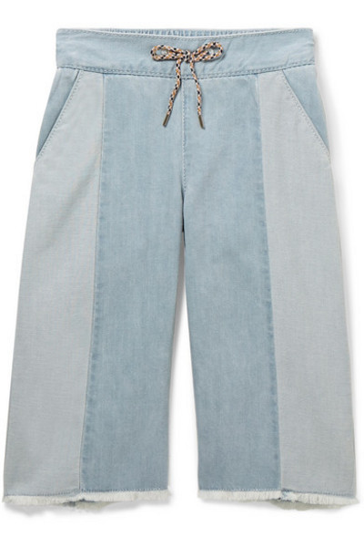 Chloé Kids - Ages 2 - 5 Two-tone Jeans in blue