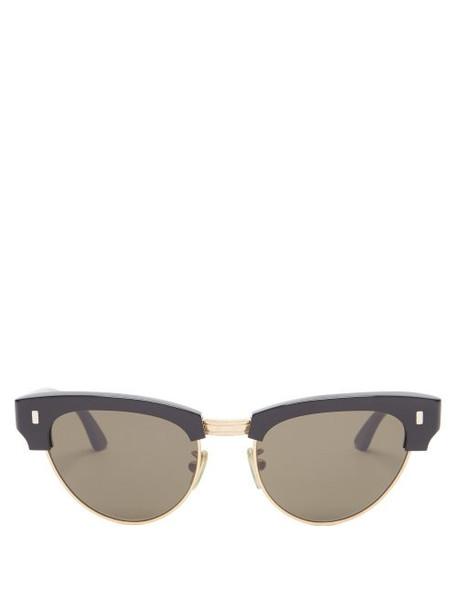 Celine Eyewear - Aviator Metal Sunglasses - Womens - Grey Gold