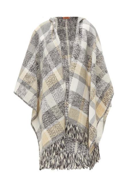 Missoni - Checked Wool Blend Poncho - Womens - Grey Multi