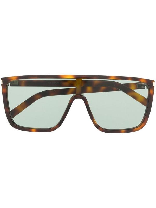 Saint Laurent Eyewear SL364 navigator-frame sunglasses in brown