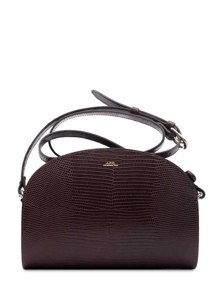 A.P.C. Demi Lune Croc Embossed Leather Bag