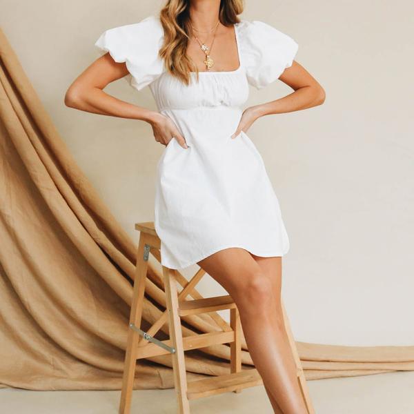 VG Lou Lou Mini Dress // White