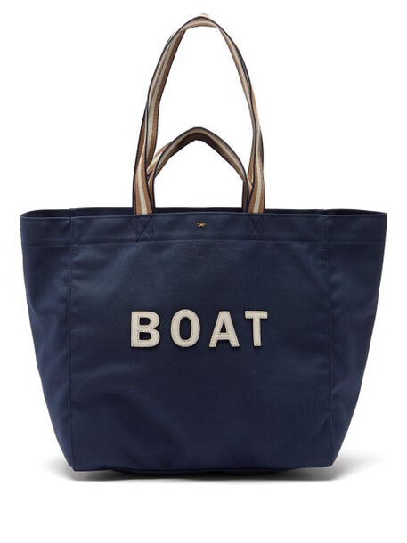 Anya Hindmarch - Boat Recycled-canvas Tote Bag - Womens - Navy