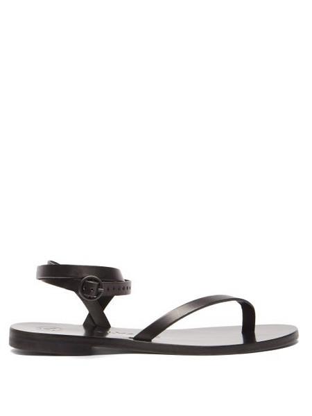Álvaro Álvaro - Arubina Wraparound Leather Sandals - Womens - Black