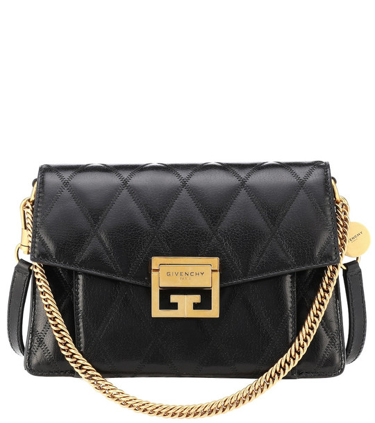 Givenchy Small GV3 leather shoulder bag in black