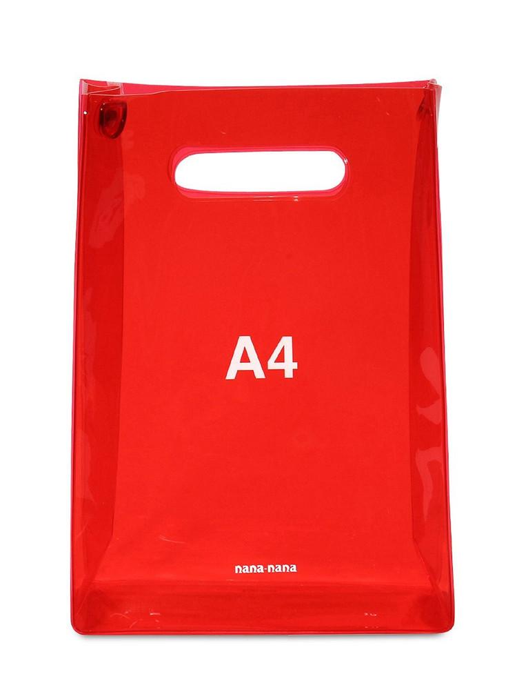 NANA NANA A4 Pvc Shopping Bag in red