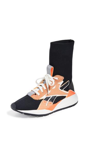 Reebok x Victoria Beckham VB Bolton Sock Sneakers in black / orange / white