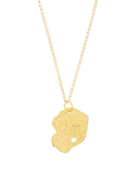 Alighieri - The Rooster 24kt Gold-plated Necklace - Womens - Yellow Gold