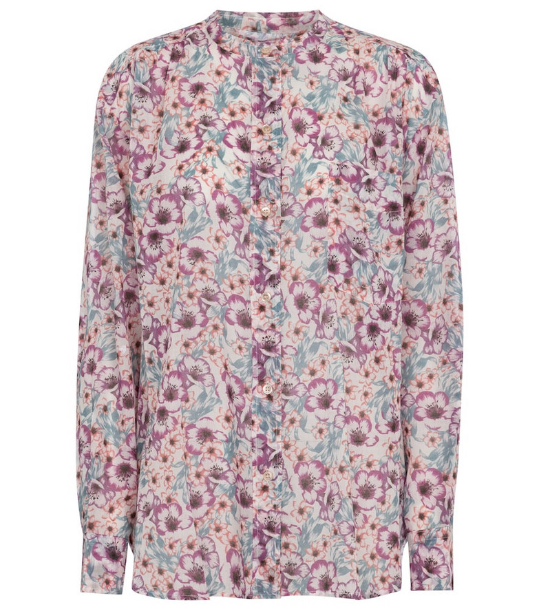 Isabel Marant, Étoile Mexika floral cotton blouse in pink