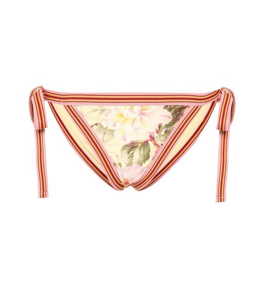 Zimmermann Honour floral bikini bottoms in yellow