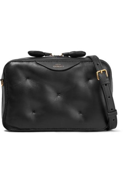 Anya Hindmarch - Chubby Leather Shoulder Bag - Black