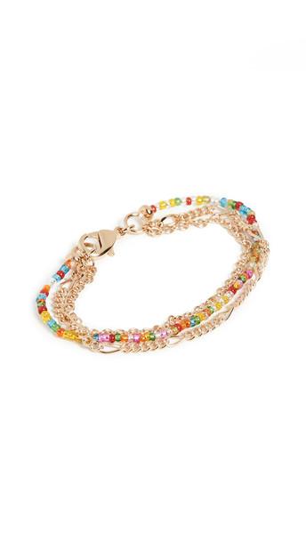 Gaviria Friendship Bracelet in gold / multi