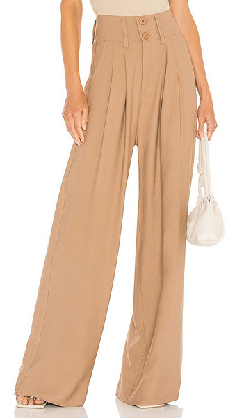 NONchalant Page Pant in Tan in camel