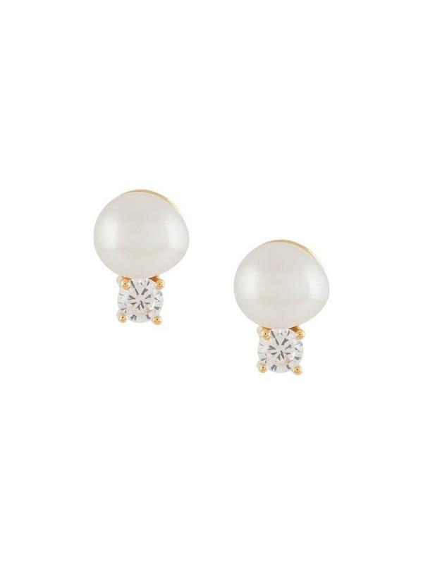 Northskull Joanna pearl stud earrings in gold