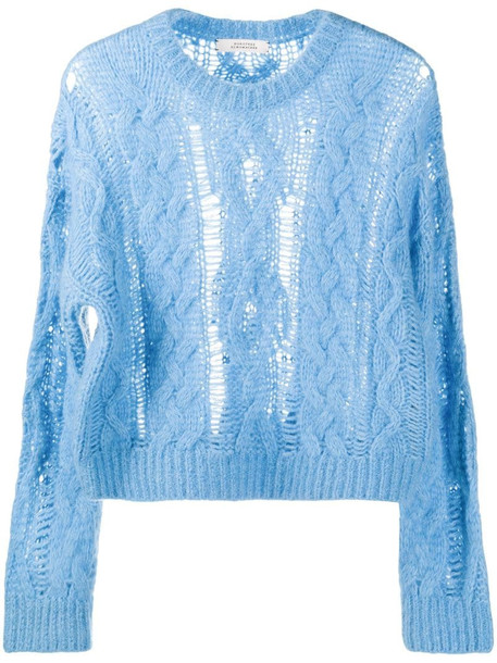 Dorothee Schumacher cable knit jumper in blue