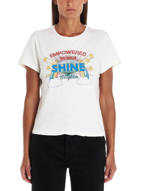 Re/done empowered Women Shine T-shirt in white