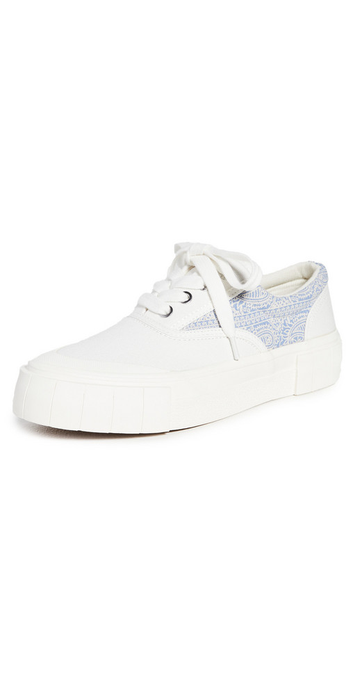 Good News Opal Paisley Sneakers in blue / white
