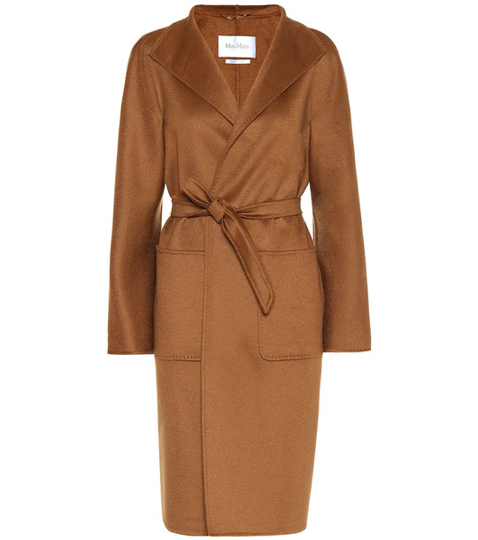 Max Mara Lilia double-face cashmere coat in brown