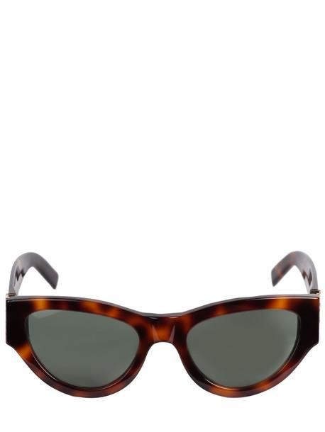 SAINT LAURENT Sl M94 Round Acetate Sunglasses in green