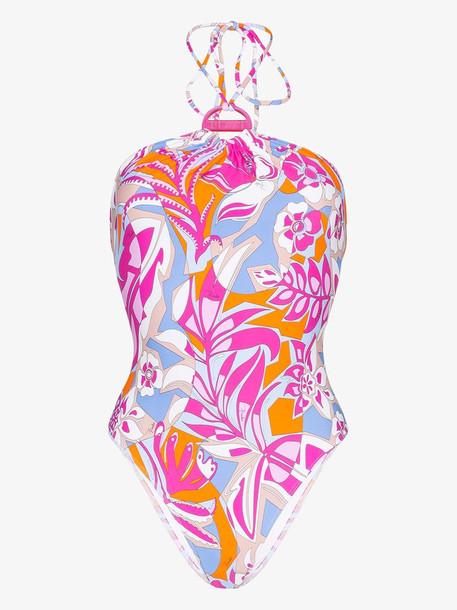 Emilio Pucci floral print halterneck swimsuit